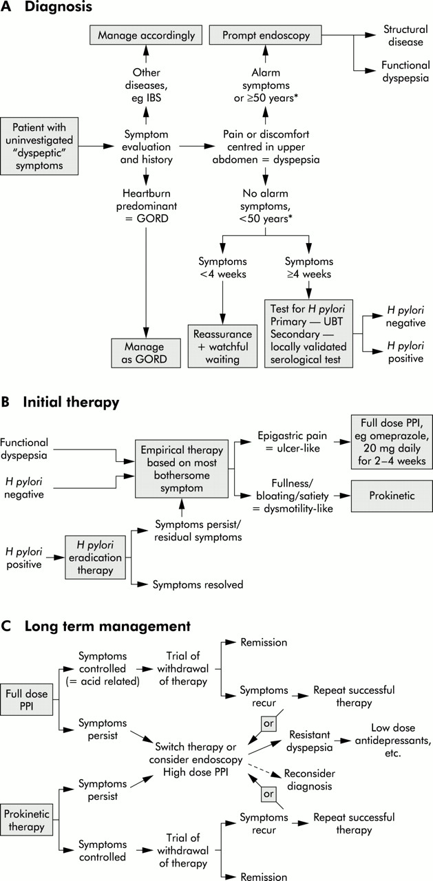 Dyspepsia: management guidelines for the millennium | Gut