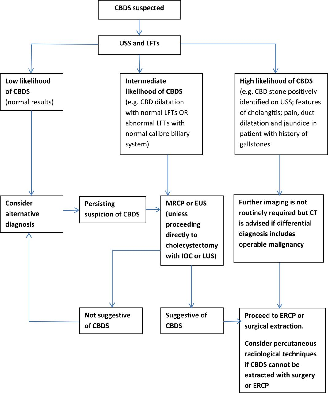 Updated guideline on the management of common bile duct stones (CBDS ...