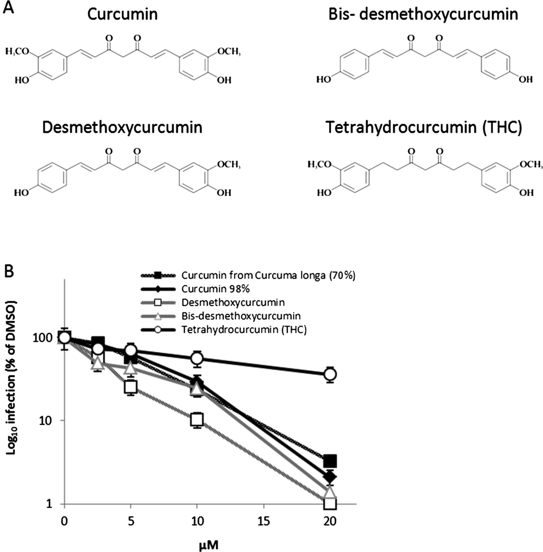 Turmeric curcumin inhibits entry of all hepatitis C virus